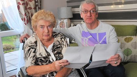 Stephen Hall and his disabled wife Janet have been told by the council they will have to take a plas