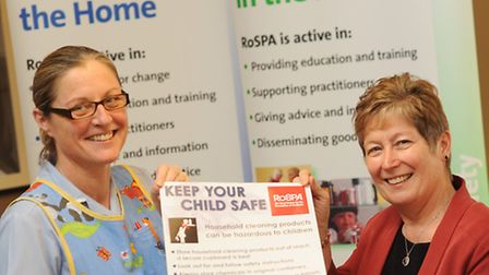 RoSPA launched the The Take Action Today campaign at the QEH. Pictured are staff nurse Sara Freeman