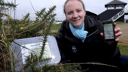 Alex Green a learning officer at the National Trust in Blakeney has released a geocaching travel bug