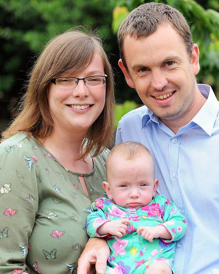 Emma and Steven Everard are grateful to doctors and nurses whose diligent care saved the life of bab