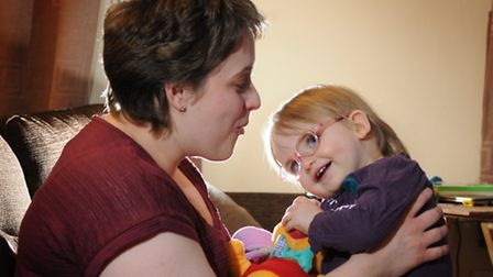 Becki Carey who was diagnosed with Hodgkin lymphoma pictured with her daughter Emelia.Picture: ANTON