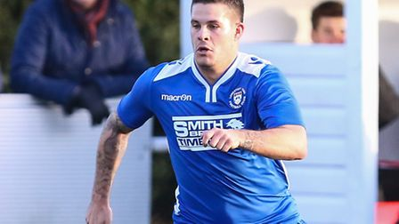 Danny Crow of Lowestoft Town during the Conference North match at St. James Park, Brackley. Picture