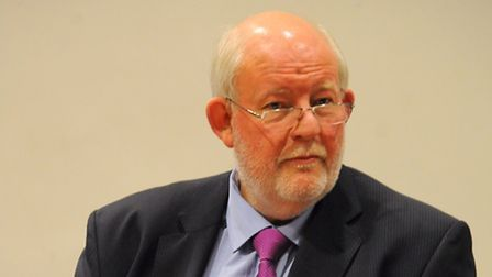 Charles Clarke's in-conversation event at the UEA. Picture: DENISE BRADLEY