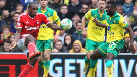 Norwich City had to keep a close watch on Nottingham Forest dangerman Michail Antonio. Picture by Pa