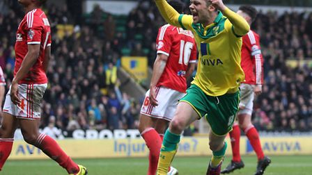 Jonny Howson marks his 100th Norwich City appearance with the opening goal in the 3-1 Championship w