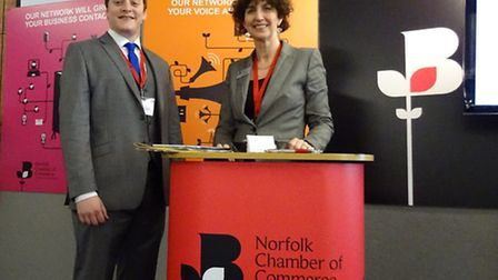 Caroline Williams, chief executive of the Norfolk Chamber of Commerce, and Jason Williams, business