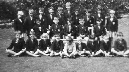 Hilbre School pupils pose for a photograph on the front lawn in the 1960s. Picture: SUPPLIED