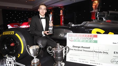 George Russell wants to become a household name in the world of motorsport. Picture: SAM BLOXHAM