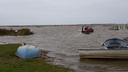 Morston Quay at high tide on Saturday morning. Picture: Beans Boat Trips