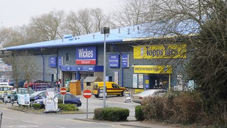 The current site on Drayton Road occupied by Wickes and Topps Tile which Aldi have just been given p