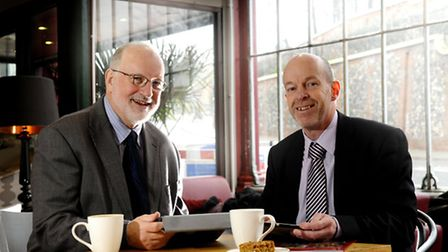 Norwich Diocese Academy Trust. Left, chairman Fred Corbett and senior officer Paul Dunning.Picture: