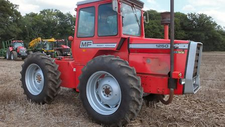 A Massey Ferguson tractor 1250 dating from 1979 fetched a record price when it went under the hammer
