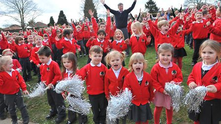 Arden Grove Infant and Nursery School celebrate having been judged 'outstanding' in all categories i