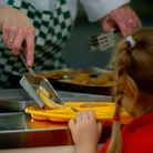 PARENTAL PERMISSION OBTAINED. File photo dated 08/03/07 of a meal being served to a primary school p