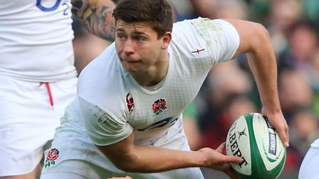 England's Ben Youngs offloads the ball during the RBS Six Nations match at the Aviva Stadium, Dublin
