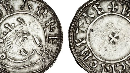 A coin found in Langham dating back to Anglo-Saxon times.