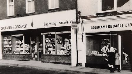 Coleman's Opticians' buildings in St Augustine's Street about 1960. Picture: SUBMITTED