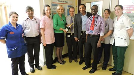 New frailty ward opens at Lynn's Queen Elizabeth Hospital: Picture submitted. In Picture (from left)