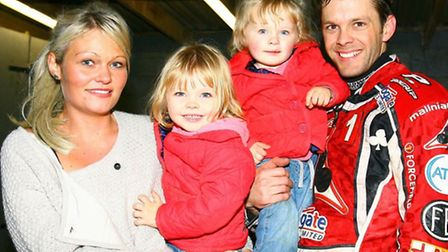 Rory Schlein shares a moment with his fiancee Natalie and their children Roxy-Lee and Ricci-Bobby du