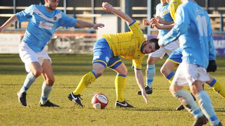 King's Lynn Town Reserves v Great Yarmouth at The Walks last weekend. Picture: Ian Burt