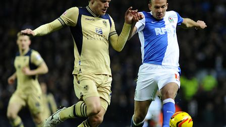 Blackburn Rover's Jordan Rhodes (right) has been touted with Norwich City and a number of Championsh