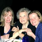 Mary Rudd (left) pictured with mother Joan Hill, and sister Libby Mitchell, at a family celebration.