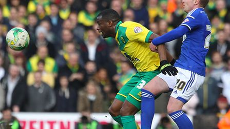 Norwich City defender Sebastien Bassong missed the 4-1 Championship win at Millwall with a knee inju