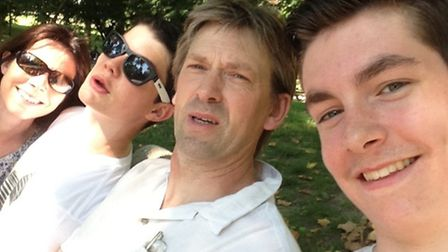 A family selfie taken by David in Central Park, New York, while on a holiday to the USA in 2013. Fro