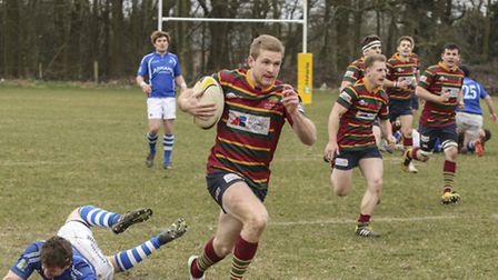 Michael Campton-Smith on the ball for Norwich against Diss at Beeston Hyrne. Picture: Andy Micklethw