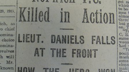 Premature end: one of the newspaper headlines that mourned the 'death' of Harry Daniels in September