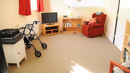 The lounge of the NEAThome (Norwich electronic Assistive Technology) at the UEA, housing the latest