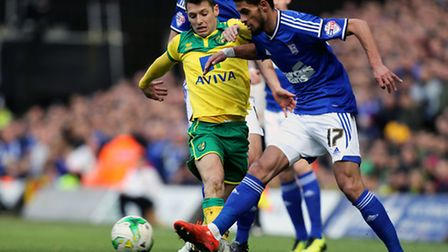 Norwich City's Wes Hoolahan came on in the second half against Wigan. Photo: Chris Radburn/PA Wire.