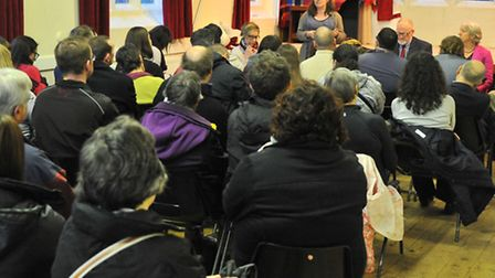 The community meeting at the Christ Church Centre to discuss the future of Sewell Park College. Pict