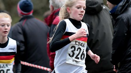 English Schools Cross Country Championships, Ellie Taylor (Sprowston High), 51st junior girls. Pictu