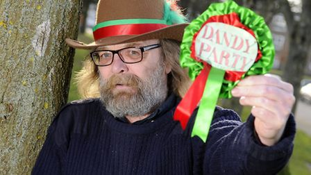 Dandy Party candidate and disability campaigner Mick Hardy.Picture: ANTONY KELLY