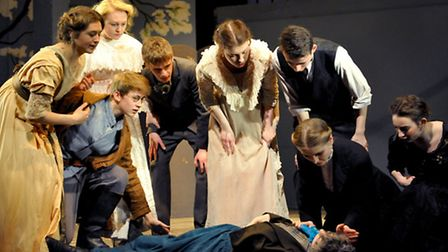 Norwich School pupils are performing The Cherry Orchard at the Maddermarket Theatre.