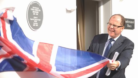 A plaque for Field Marshal Lord Ironside was unveiled by George Freeman MP at Southernwood House, Hi