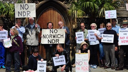 Norwich Northern Distributor Road protesters. Photo by Simon Finlay.