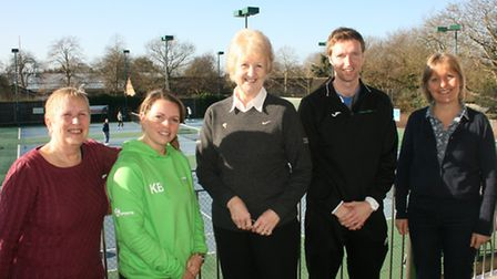 Photos of LTA president Cathie Sabin's visit to Norfolk, meeting the East Anglia Tennis and Squash c