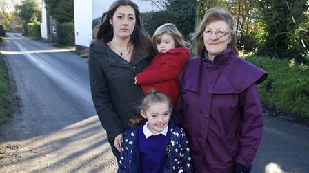 Residents of the Street in Knapton are unhappy with the amount of large lorries using the road which
