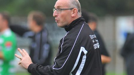 Wroxham boss Stewart Larter is looking to repeat the Norfolk Senior Cup success he had with Gorlesto