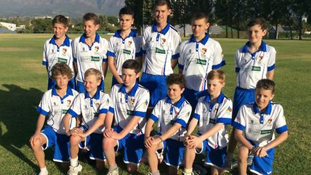 Norfolk Under-13s take on Paarl Skool Gimnasium during their tour of South Africa.
