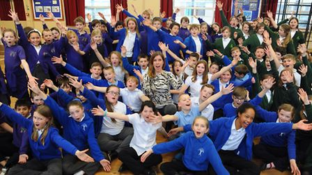 Schoolchildren rehearse the opera La bohème which they will perform at the Theatre Royal in the Norf