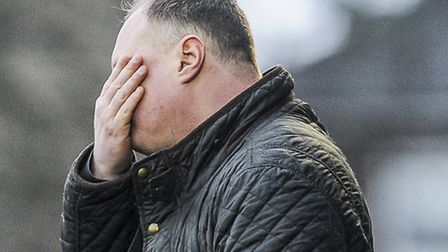 It was a tough day for Lynn manager Gary Setchell on the touchline against Rushall. Picture: Matthew