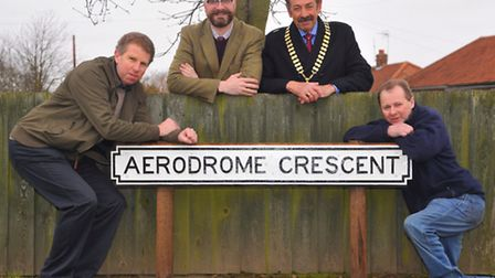 The Aerodrome Crescent sign in Thorpe St Andrew that is one of thirteen that are being restored by D