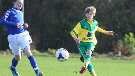Josh Pond in action for the Norwich City academy. Picture: Aaron Murrell