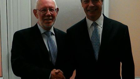 Peter Collecott with Nigel Farage.