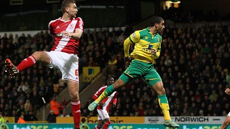 Lewis Grabban is ready to play a full part in Norwich City's Championship promotion push. Picture by