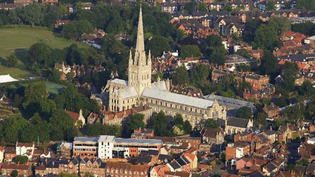 Norwich from the air. Picture by Mike Page.