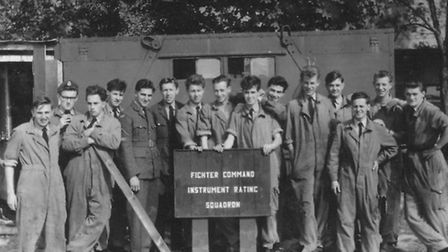 Young men training at the RAF airbase in West Raynham in the 1940s. Picture: submitted